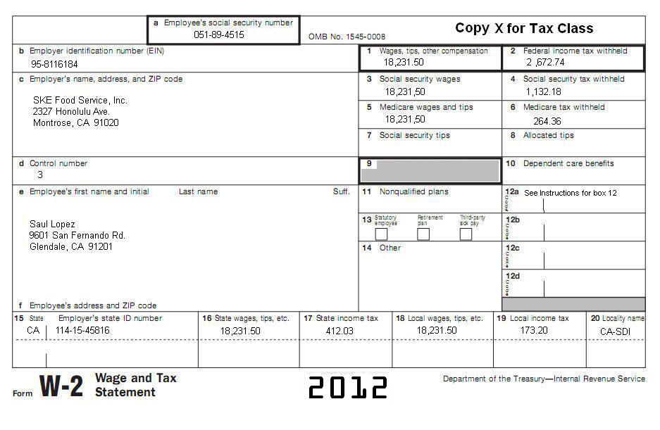Tax Subject CA-1 - Filing a California Tax Return