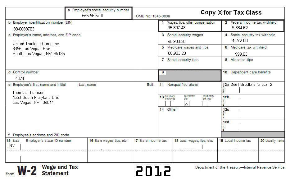 Tax Subject T Filing Basics - W 2 template