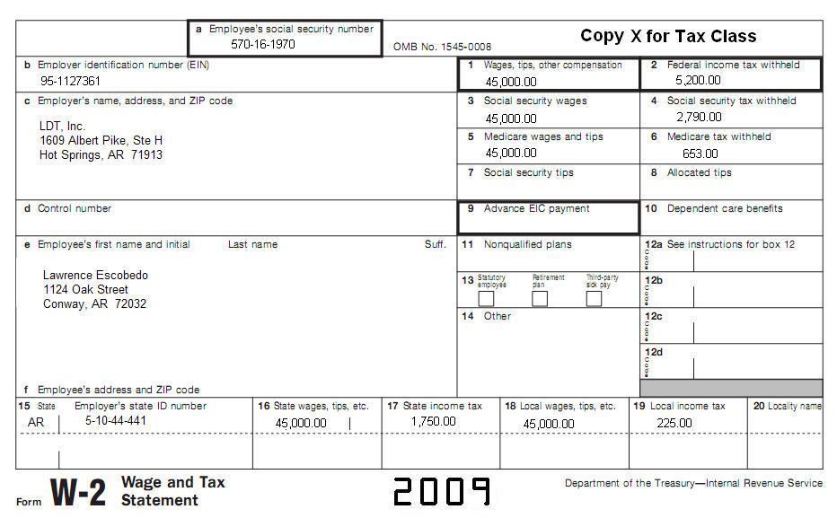9 Tax Topic 15