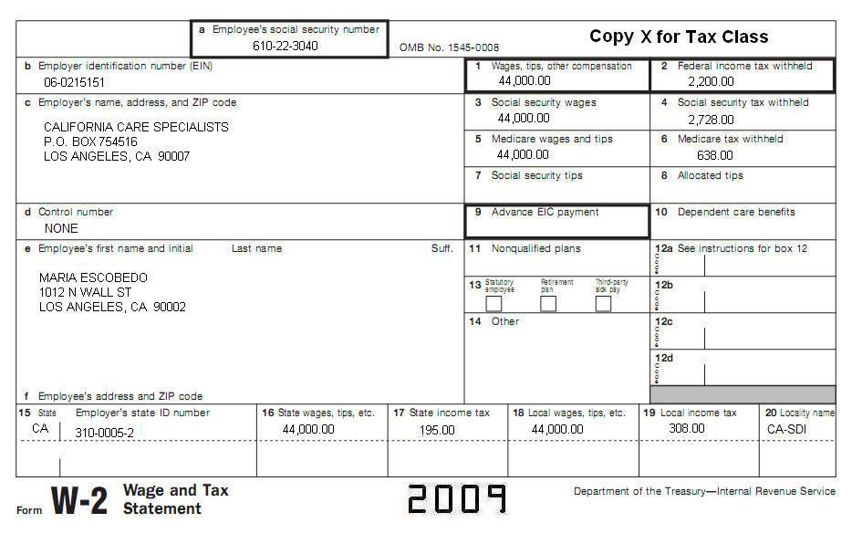 ca-topic-1-mariaescobedo-w-2 Tax Id Number Format Example on